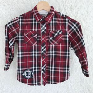 GUESS Kids Plaid Western Shirt Red
